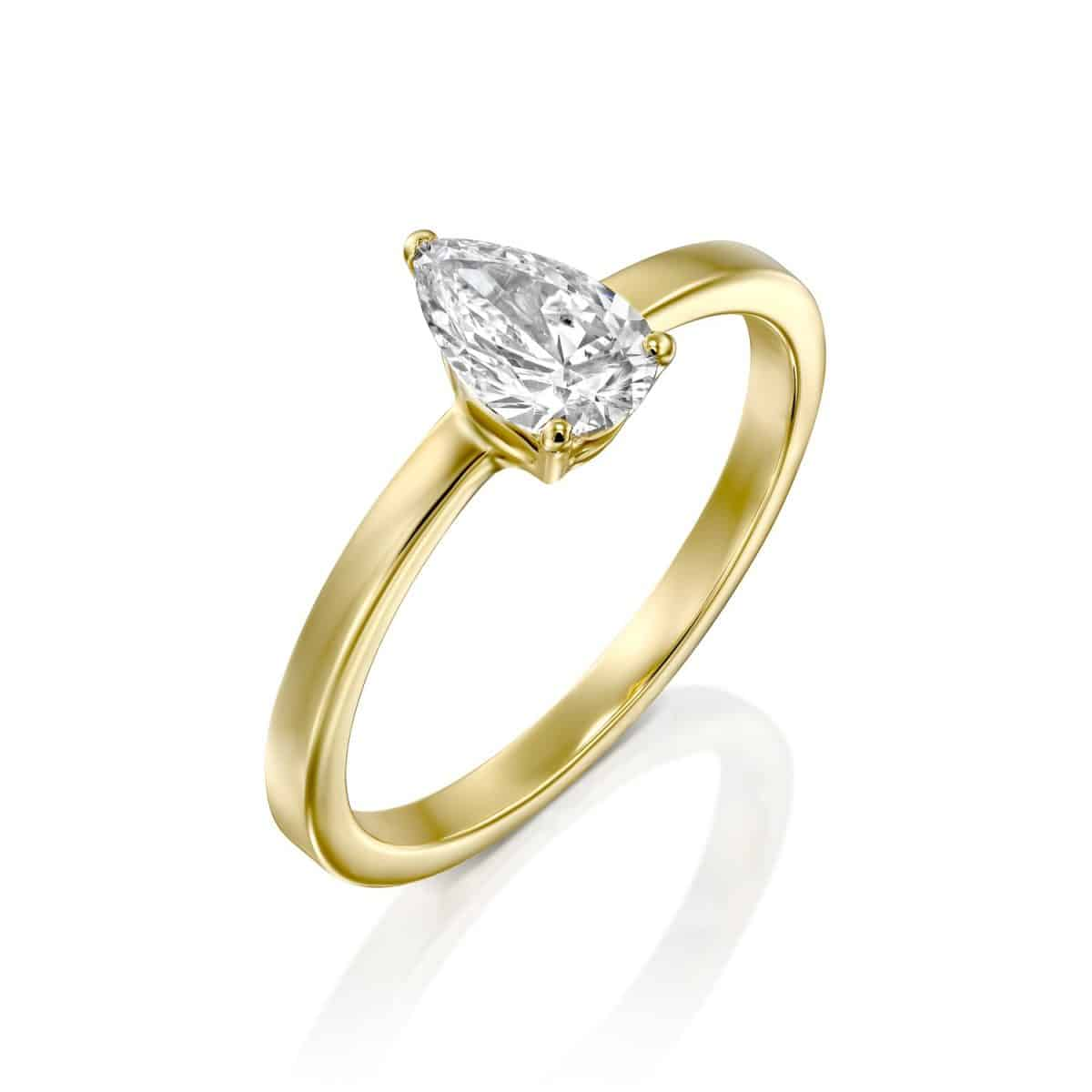Brittney - Yellow Gold Lab Grown Diamond Engagement Ring 0.60ct. - main