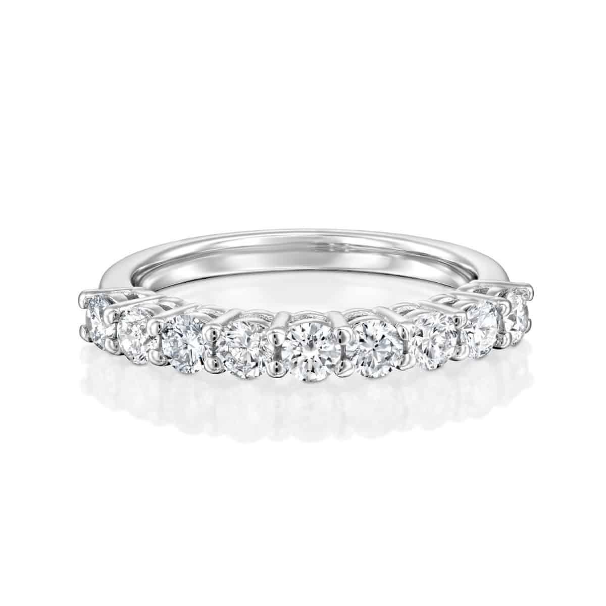 Inlay Lab Grown Diamond Engagement Ring 0.85ct. - lay