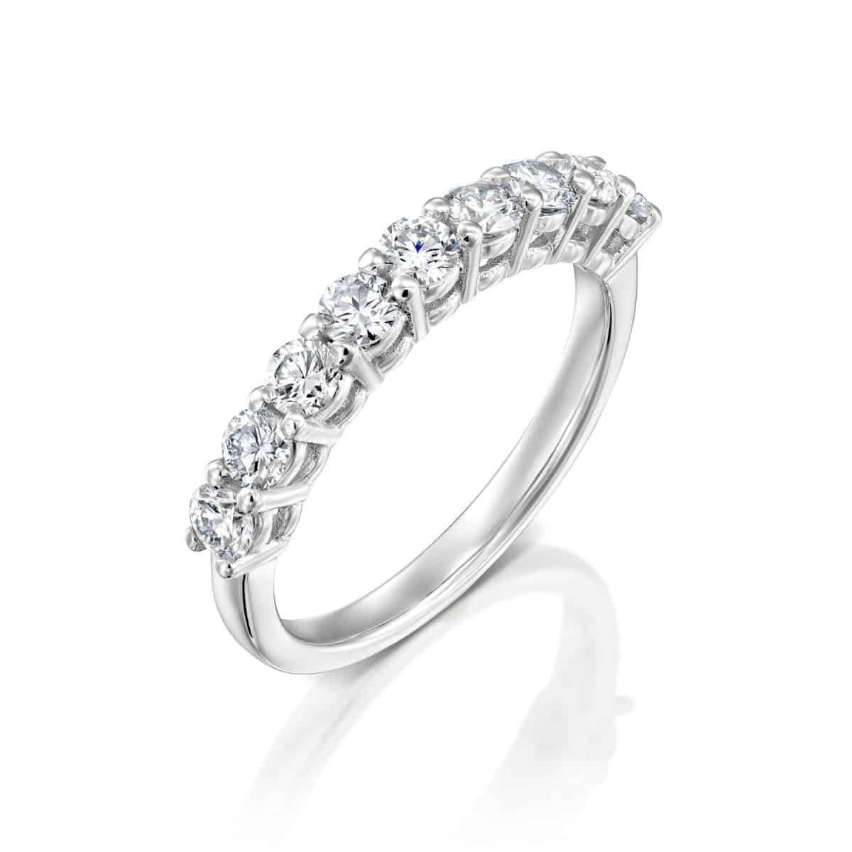 Inlay Lab Grown Diamond Engagement Ring 0.85ct. - main