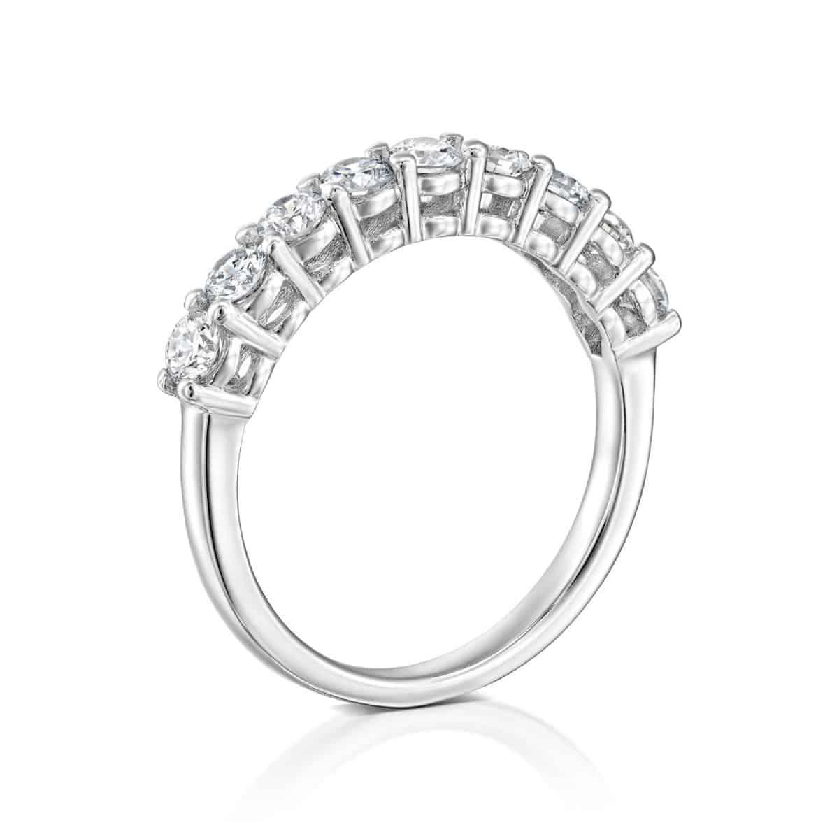 Inlay Lab Grown Diamond Engagement Ring 0.85ct. - standing