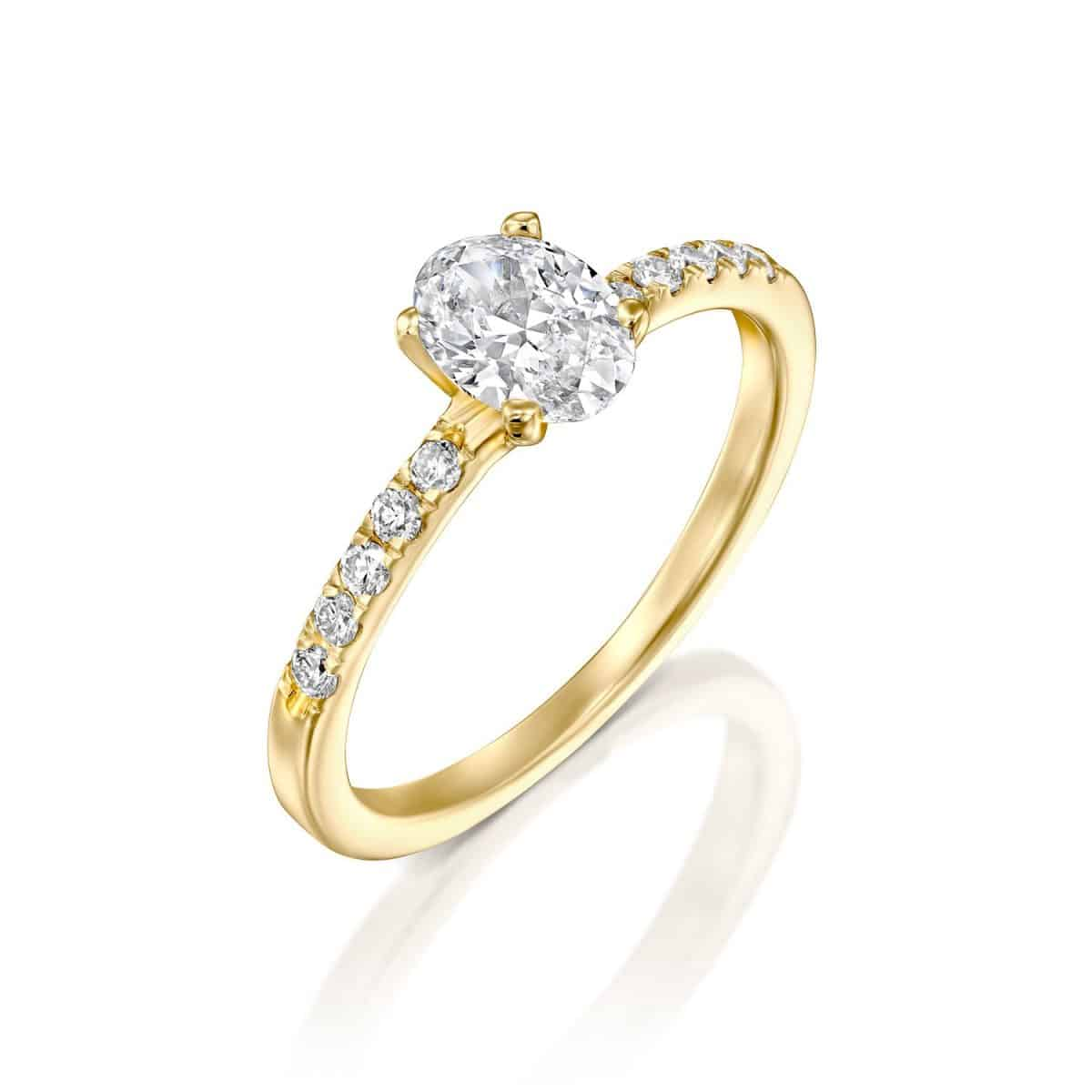 Oval - Lab Grown Diamond Engagement Ring 1.10ct. - main