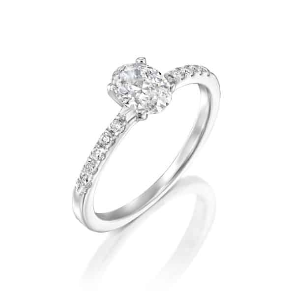 Oval - White Gold Lab Grown Diamond Engagement Ring 0.61ct. - main