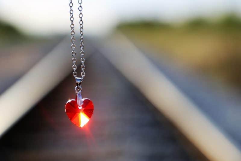 red heart diamond