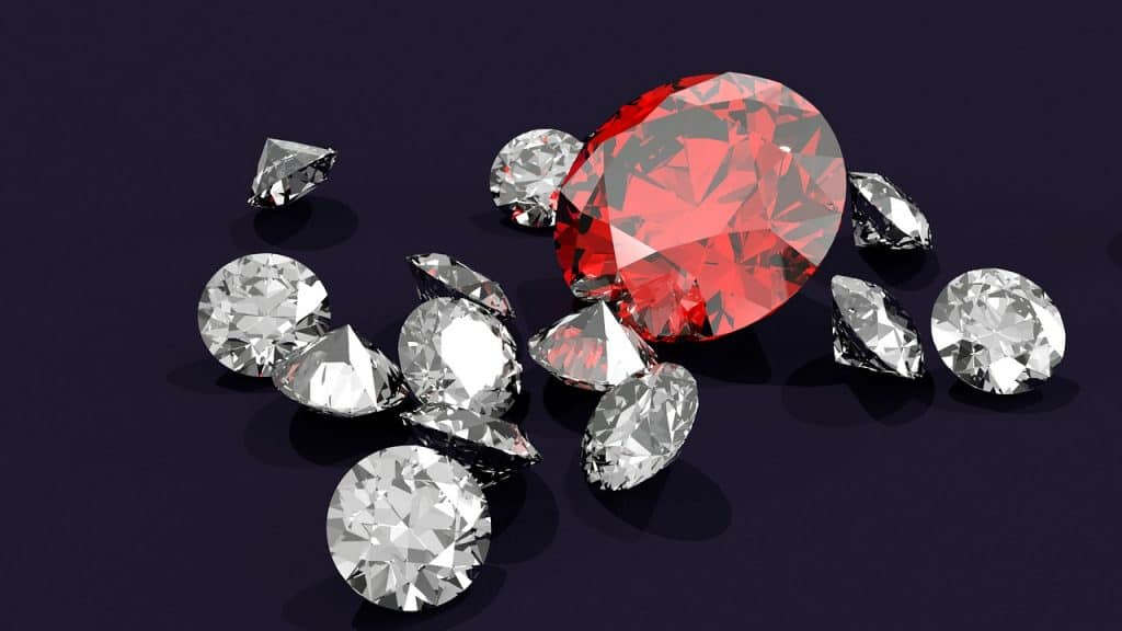 white and red diamonds