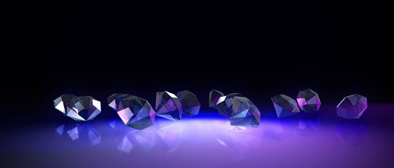 diamonds on purple led