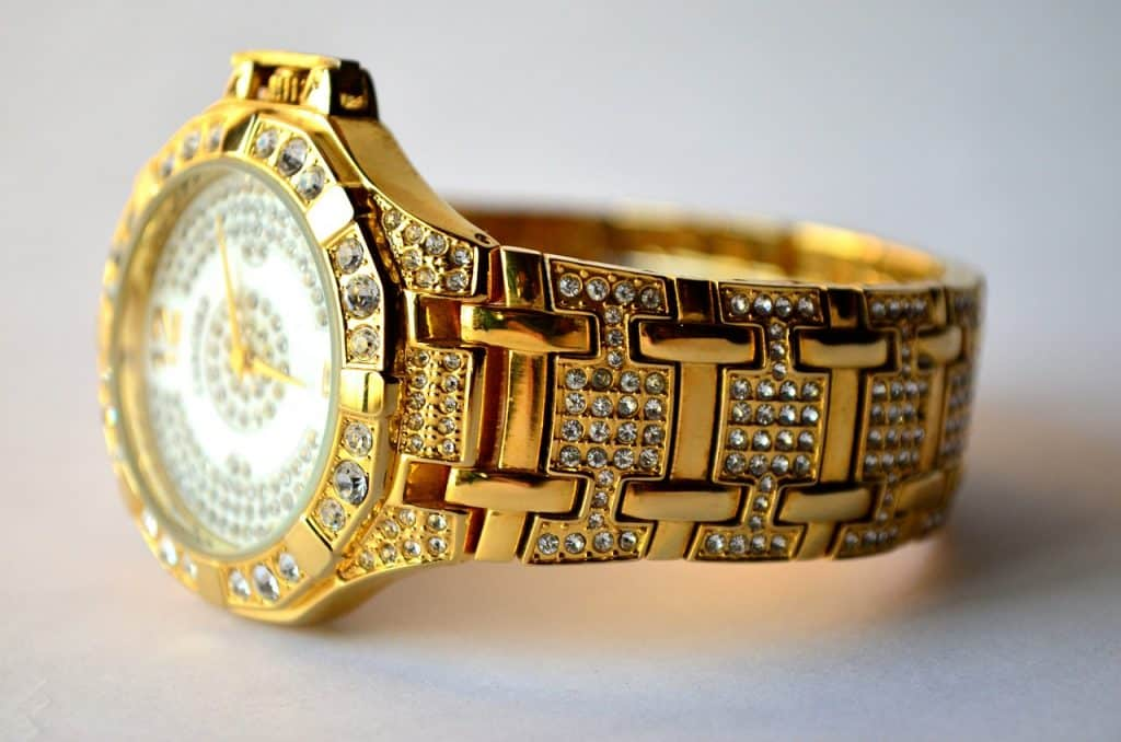 gold diamond watch