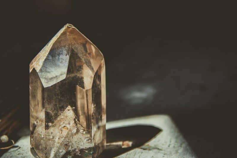 diamond in orange light