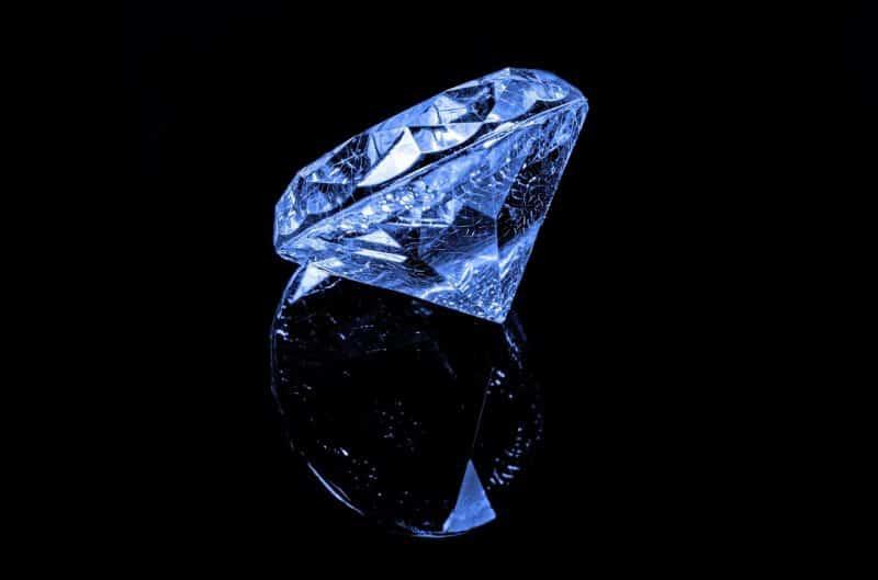 blue diamond reflection